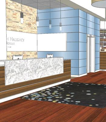 Reception Area Rendering