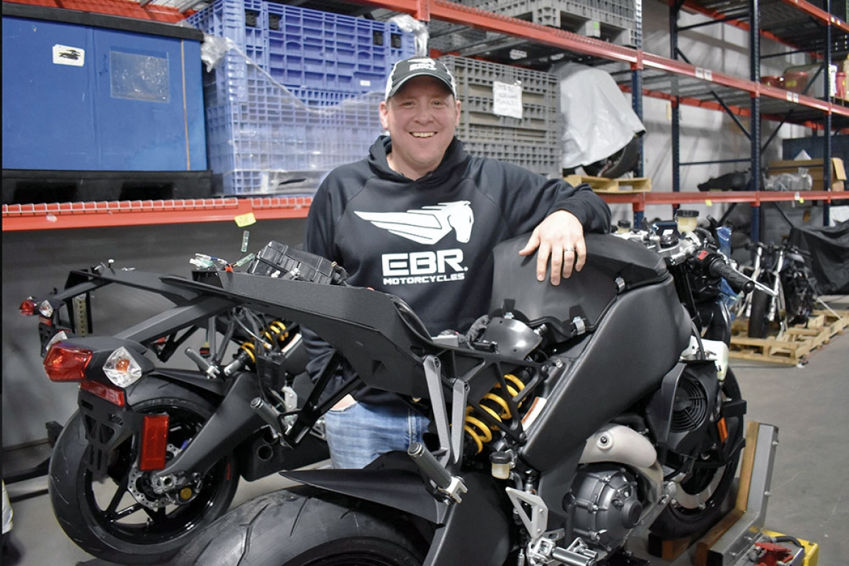 Liquid Asset Partners owner Bill Melvin moved production of EBR Motorcycles to Grand Rapids. The company built three EBR 1190 superbikes last year and expects to slowly build production in 2019 while improving on the Erik Buell-designed chassis. The motorcycles, which feature locally-sourced custom paintwork, cost around $20,000.