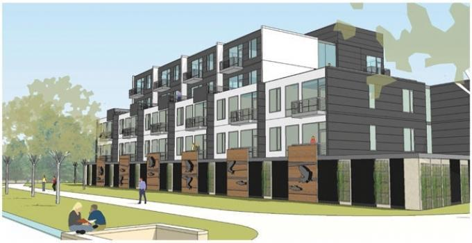 Orion Real Estate Solutions plans a mixed-use development at 1001 North Monroe Ave. on the banks of the Grand River. The project was designed by Grand Rapids-based Progressive AE.