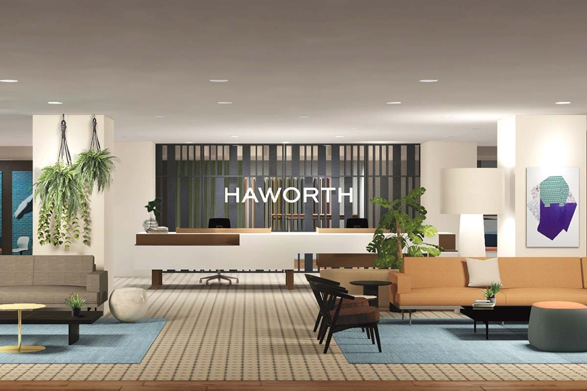 Holland-based Haworth Inc. developed a variety of virtual features and experiences for potential clients that the company will unveil to coincide with NeoCon, whose organizers canceled this year's live event in Chicago. This digital offering includes a virtual showroom that features several new products.