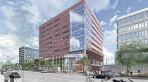 Contractor Owen-Ames-Kimball Co. will be working with CWD Real Estate Investment Inc. to renovate the Calder Plaza Building at 250 Monroe Ave. NW in downtown Grand Rapids. It's one of many projects the contractor has on the books for the next couple of years.