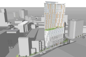 Wheeler Development proposes $55M, 24-story tower on GR-owned parking lot