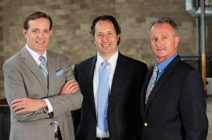 Auxo Investment Partners, a Grand Rapids-based private equity firm, aims to raise $50 million and invest in manufacturing, distribution, business services and industrial firms. The managing partners of the firm are, from left, Jeff Helminski, Jack Kolodny and Fred Tedori.