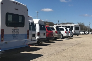 Broadmoor Motors' used vehicle lot in Middleville. The company's inventory is about half of what it typically is because of high demand and supply chain shortages.