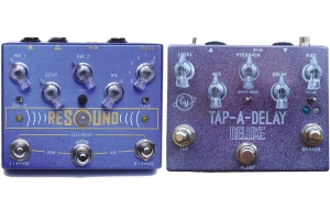 Guitar effects pedals manufactured by Cusack Music in Holland.