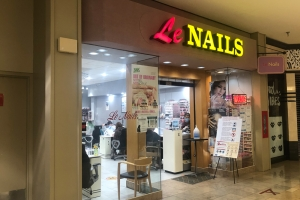 Le Nails salon at The Crossroads mall in Portage.