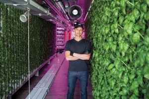 Square Roots CEO Tobias Peggs said the company's project at Gordon Food Service's headquarters is part of its ambitious growth plans to grow fresh food close to where people live.