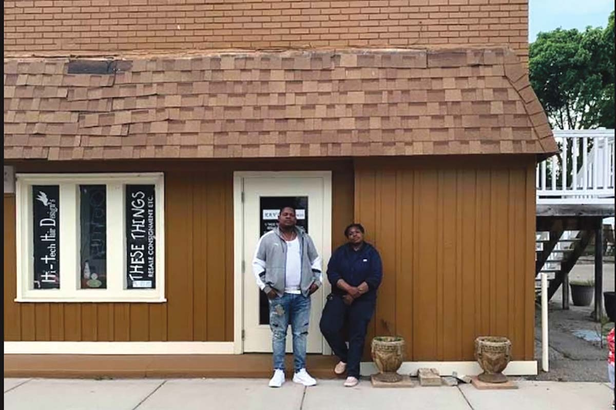 The brother and sister team of Dalshawn Tyler, left, and Erica Tyler, right, are planning to open the Southtown Market in southeast Grand Rapids to offer residents fresh food. The Tylers also want to provide entrepreneurial support for people in the neighborhood interested in starting up a business.