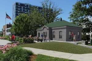 A rendering of The Coffee Shop by Has Heart, which is expected to start construction this fall in Veterans Memorial Park.